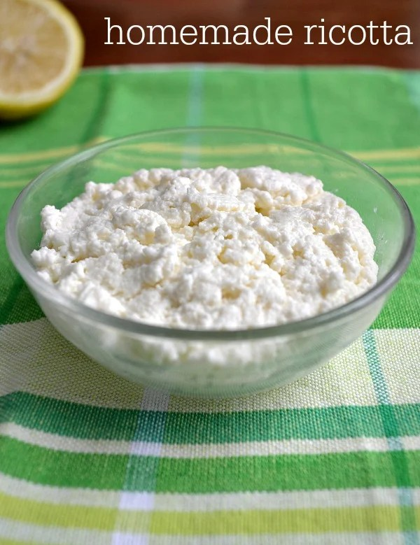 Homemade ricotta cheese is delicious and easy to make, using just three ingredients that you probably have in your refrigerator.