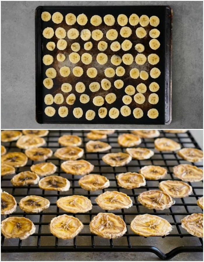 Dehydrated banana chips couldn't be easier to make in the oven.
