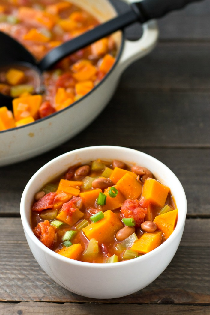 Butternut squash chili is one of the best cozy dinner recipes for fall and winter. Get some extra veggies into your menu with this healthy vegan chili. Recipe from realfoodrealdeals.com