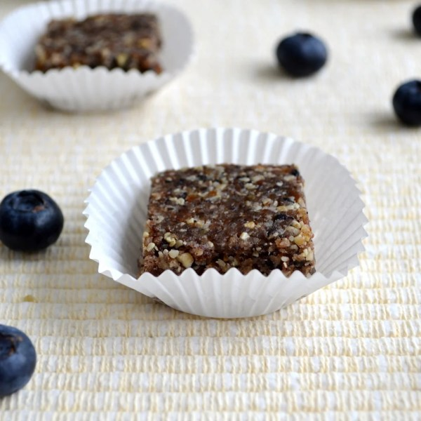 This blueberry lemon Larabar recipe makes a healthy, energy-boosting snack. Homemade protein bars are the healthy snack that tastes like dessert.