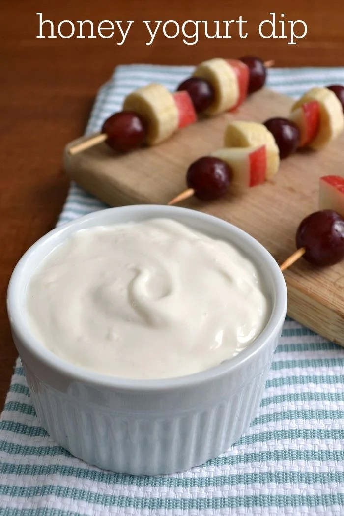 Honey yogurt dip is a sweet, high-protein snack that kids and adults love. Such an easy, healthy recipe!