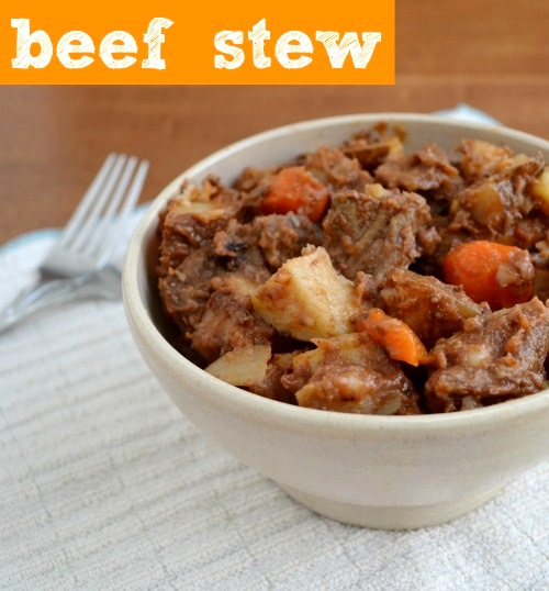 This cozy beef stew is the ultimate comfort food! My family loves it. Recipe from Real Food Real Deals.