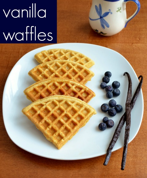 These whole grain vanilla waffles are a delicious treat for a special breakfast. You can make some extras and stash them in the freezer for later.