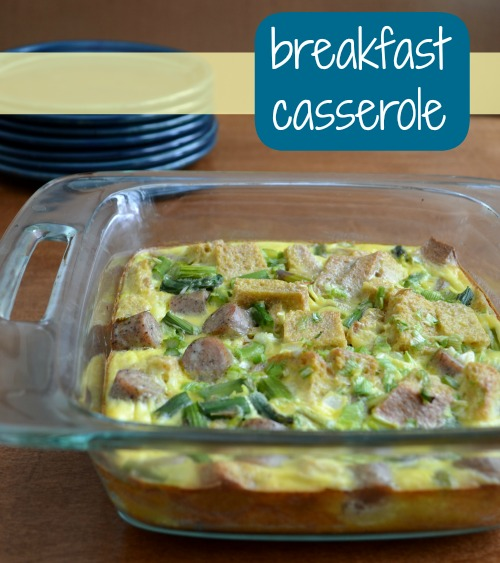 breakfast casseroleThis hearty breakfast casserole is the perfect recipe to feed a crowd! It's full of eggs, veggies, meat, and flavor. Bring it along to your next brunch. Recipe from Real Food Real Deals.