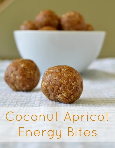 These coconut apricot energy bites are a delicious, healthy snack to grab when you're on the go. They taste like dessert, but they're secretly healthy.