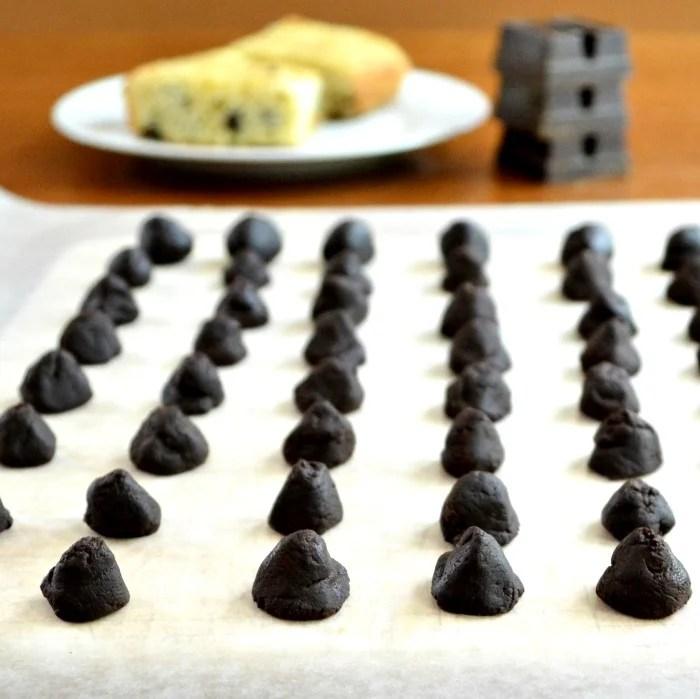 Homemade chocolate chips!
