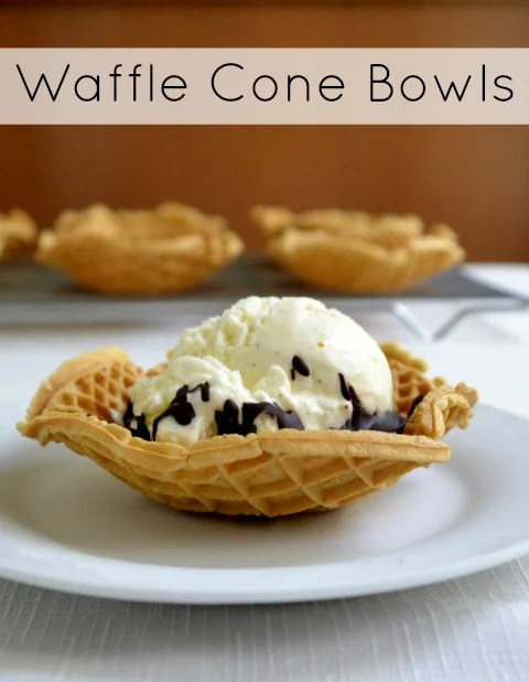 These delicious homemade waffle cone bowls are a healthy, clean eating dessert. Your family and guests will love this special treat with ice cream.