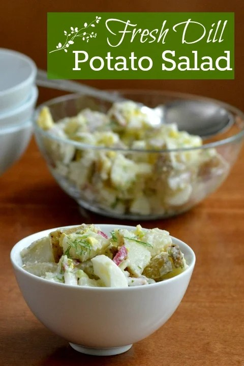 This fresh dill potato salad is a healthy, filling side dish that will complement many types of meals. Try this recipe for your next picnic or cookout.