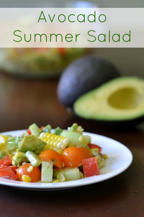 This Avocado Summer Salad is a healthy side dish full of vegetables and packed with nutrition. It's a delicious, easy recipe!