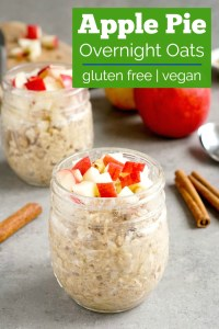 These apple overnight oats are delicious for a quick breakfast.