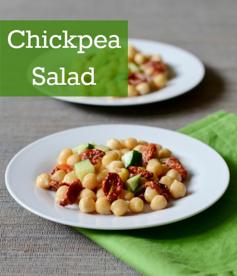 This easy chickpea salad is so flavorful! It's a great recipe to make when you want to eat something healthy.