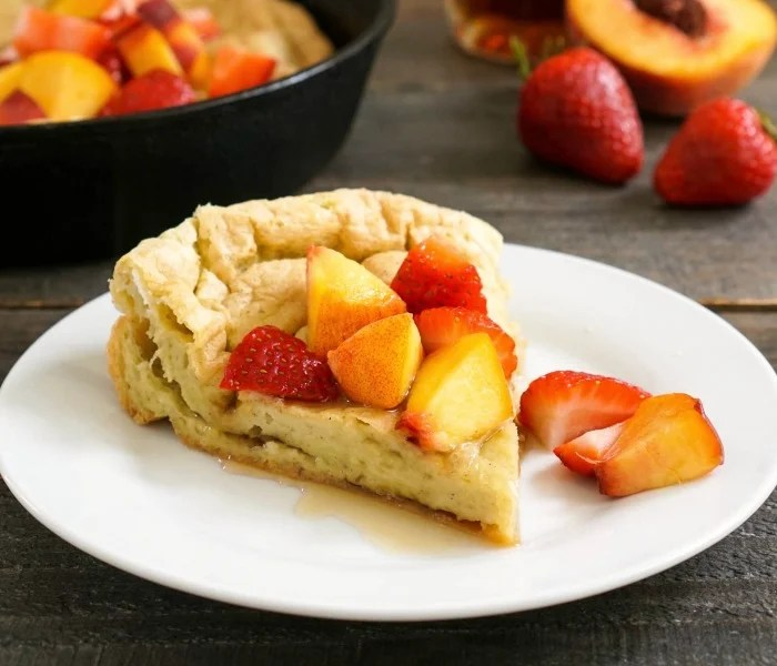 Top this puff pancake with fruit for an easy breakfast.