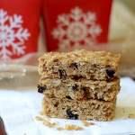 healthy granola bars gingerbread