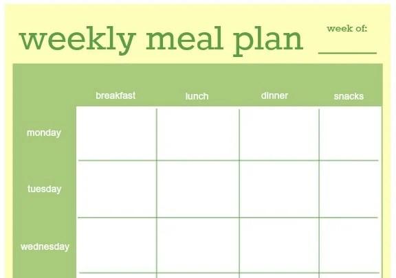 diet plan template