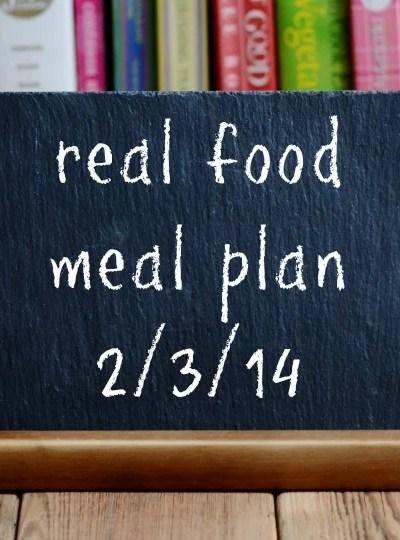 Real Food Meal Plan Week 2