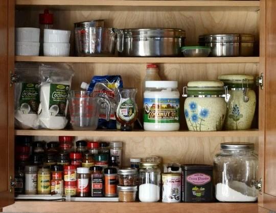 kitchen organization cabinet