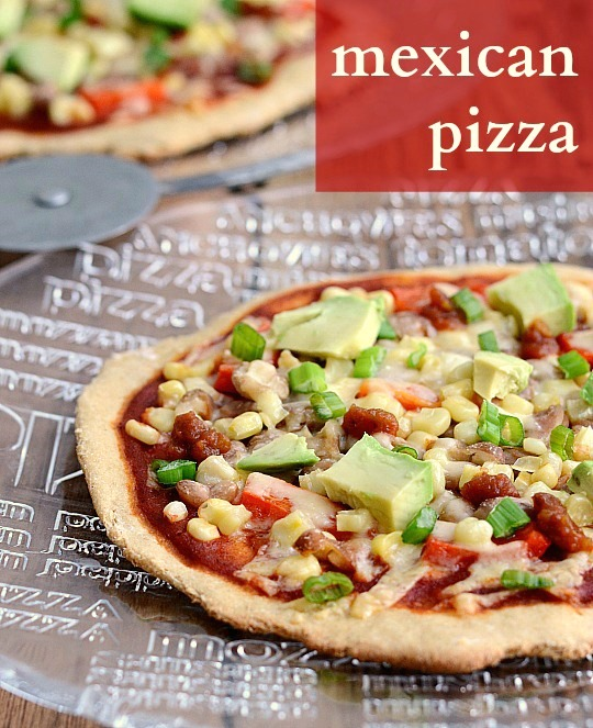 Mexican Pizza Recipe from Real Food Real Deals
