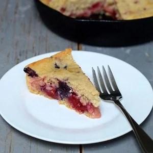 Maple Berry Skillet Cake