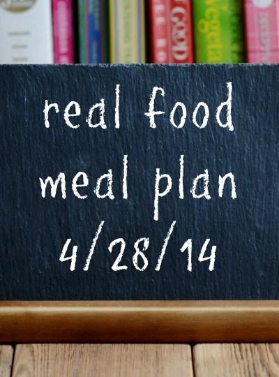 Real Food Meal Plan Week 14