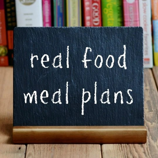 real food meal plans