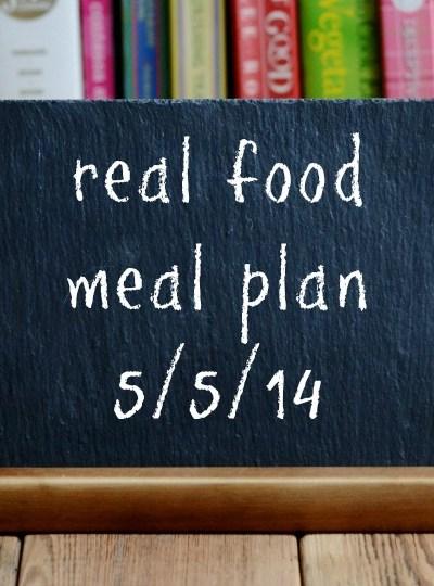 Real Food Meal Planning Week 15