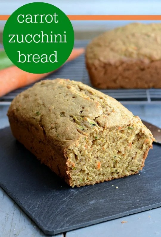 Carrot zucchini bread recipe real food real deals this carrot zucchini bread recipe is such a healthy delicious snack full of veggies and forumfinder Image collections