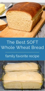 Soft whole wheat bread collage