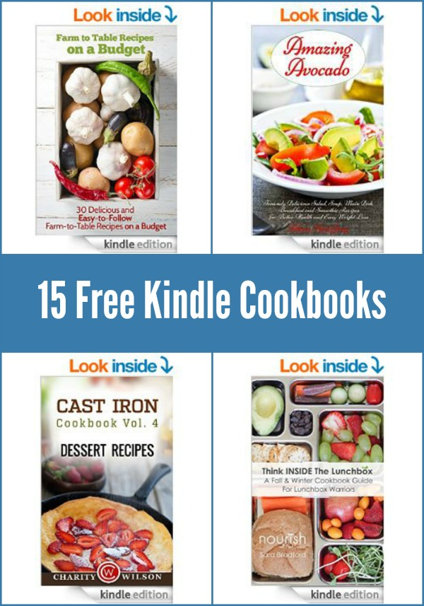 Download these 15 free Kindle cookbooks today! Free on December 18, 2014.