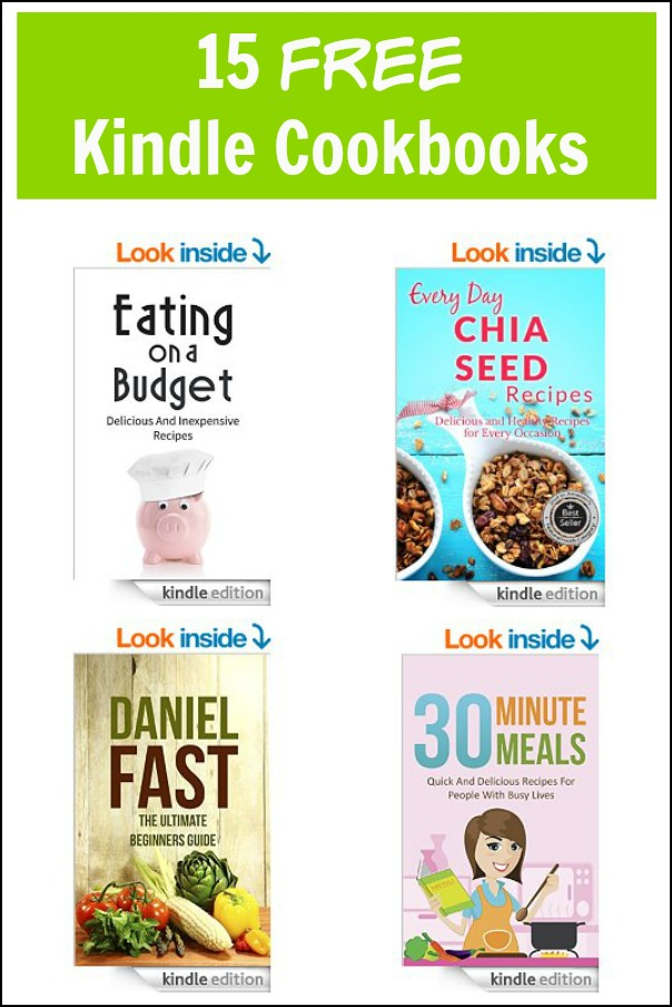 15 Free Kindle Cookbooks 2/5/15! Fill your Kindle with new recipe inspiration.