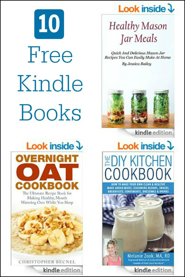 There are lots of free Kindle cookbooks available on Amazon today, 3/26/15, including everything from DIY recipes to mason jar meals.
