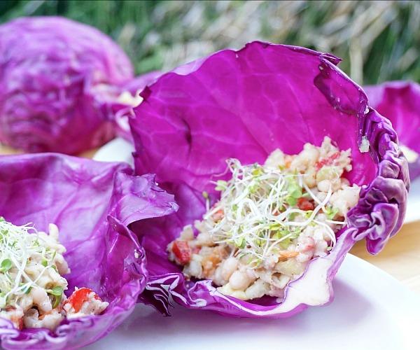 Vegan Hand Sandwich (faux tuna salad)