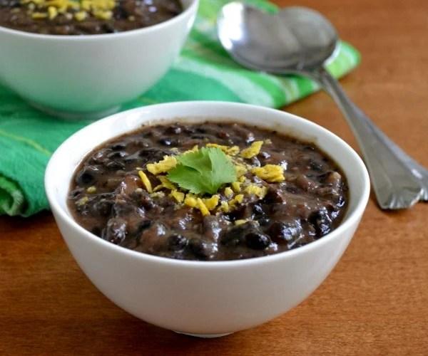 Black Bean Soup, a frugan vegan recipe