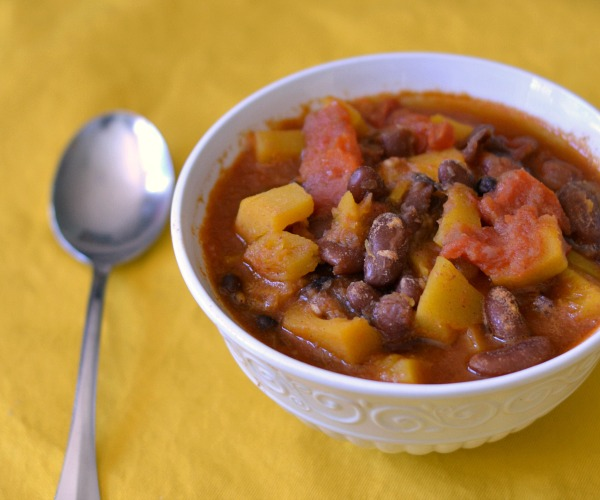 Butternut Squash Chili, a frugal vegan recipe