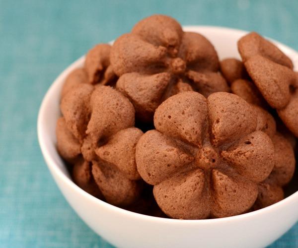Spritz cookies, a healthy chocolate dessert recipe