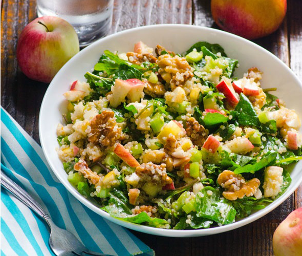 Vegan Quinoa Kale Salad Recipe