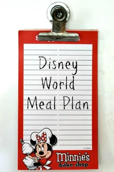 Disney World Meal Plan
