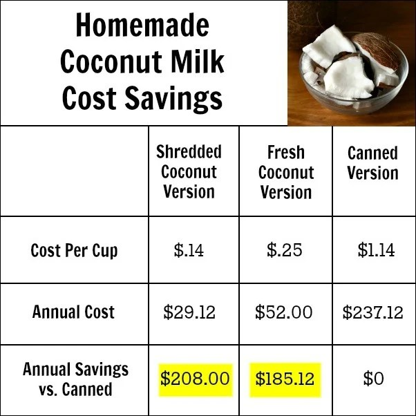 By making homemade coconut milk, you can save over $200 a year! This is such an easy recipe.