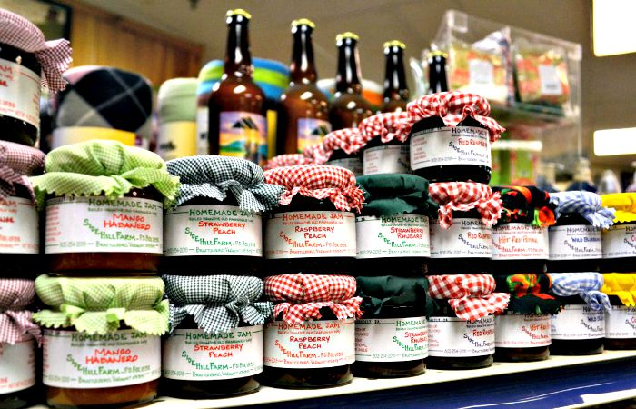 You'll find lots of local items on the shelves of the Country Store at Smugglers' Notch Resort.