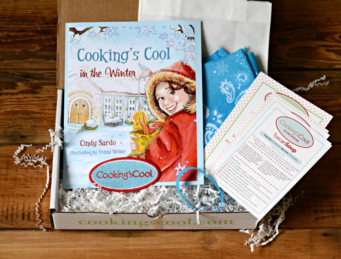 The Winter Cooking Kit from Cooking's Cool is such a great holiday gift! Get kids cooking with this fun kit.