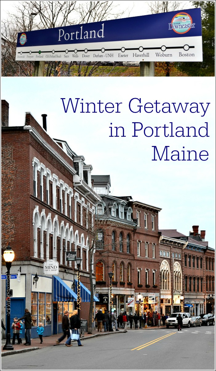 Leave the car at home and enjoy a Portland Maine winter getaway on board the Amtrak Downeaster. Portland is a foodie's dream destination.