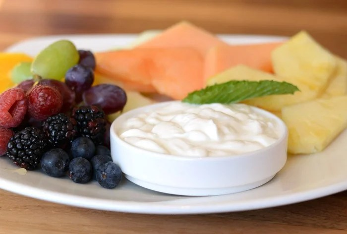 Fresh fruit and yogurt at the Inn by the Sea