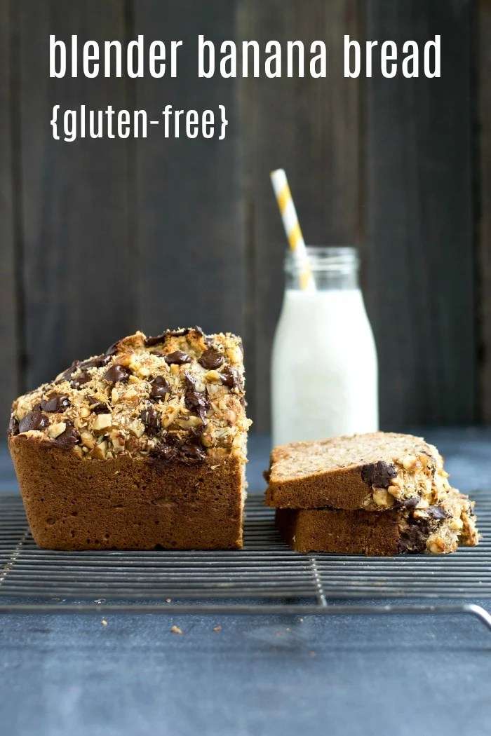 This gluten-free blender banana bread recipe is so quick and easy to make. It's a delicious, healthy gluten-free snack that freezes well and makes a beautiful, thoughtful gift.