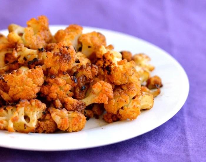 Savory roasted cauliflower bites