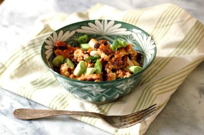 Sweet and Spicy Korean Cauliflower