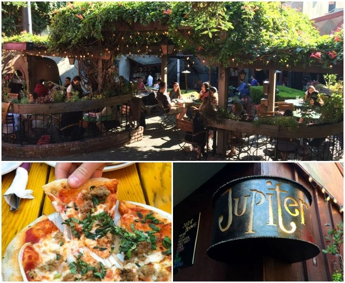 Jupiter in Berkeley, CA is a great spot for pizza, craft beer, and outdoor dining.