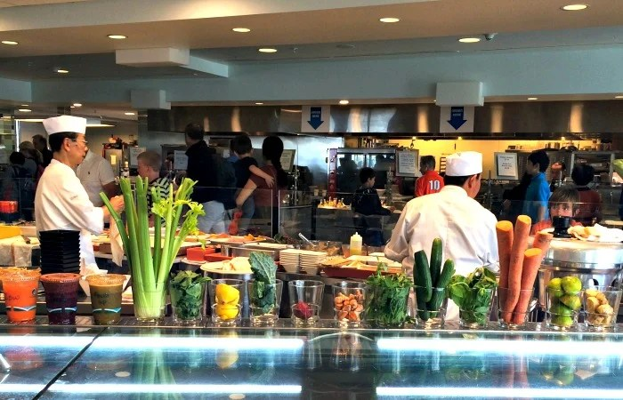 Healthy food at the Exploratium's Sea Glass Restaurant