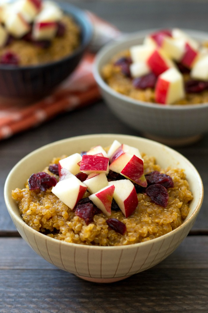 This fall quinoa breakfast bowl is a healthy, delicious breakfast recipe that was inspired by some beautiful bowls at the new Cost Plus World Market in Hyannis, MA!