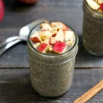 This apple pie chia pudding has the best fall flavor! It's a healthy snack recipe that will keep you feeling full until your next meal.
