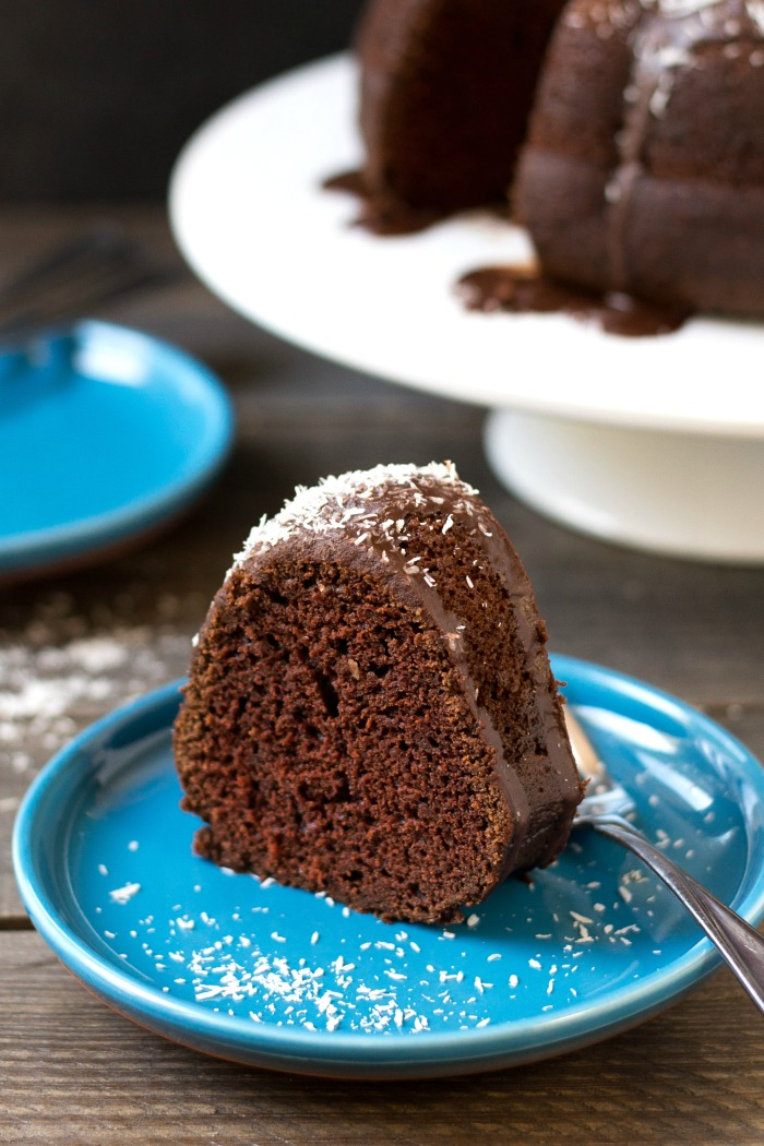 This double chocolate bundt cake is a classic dessert recipe that everyone will love. It's a delicious dairy-free option for holiday baking and other special occasions. Recipe from realfoodrealdeals.com