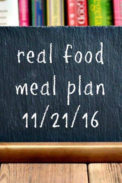 Real Food Meal Plan Week 137